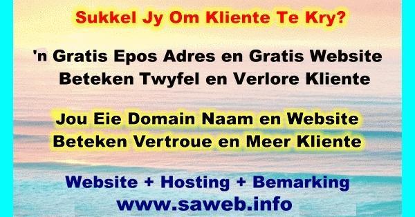 Gratis webwerf en epos beteken twyfel